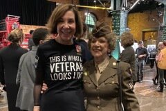 "November 6, 2019- Senator Iovino attends the ""I Am Not Invisible"" women veteran photo gallery with a WWII veteran."
