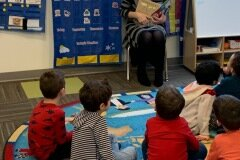 December 10, 2019 - Senator Iovino reads to students at the Sewickley Valley YMCA's daycare program