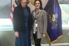 January 31, 2020 - Senator Iovino meeting with Nicole Fedeli, Director of Public Policy & Engagement for UPMC, to discuss the variety of services offered by UPMC Western Psychiatric Hospital
