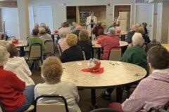 February 7, 2020 - Senator Iovino visits with the residents at Bethel Square Senior Apartments to answer questions about state government and policy
