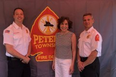 June 29, 2019 - Senator Iovino with the Peters Township Fire Chief and Deputy Chief at Peters Township Community Day.