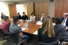 June 20, 2019 - Senator Iovino joins the discussion at Gateway Rehab, and Opioid use treatment and recovery program.