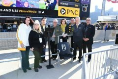 November 10, 2019- Senator Iovino attends the Steeler Game and presents the POW/MIA chair.