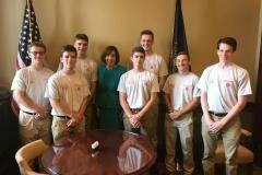 June 18, 2019 - Senator Iovino discussed the work of a legislator and how our state government operates with Keystone Boys State.