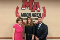 October 1, 2019 - Senator Iovino with the PA Secretary of Education, Pedro A. Rivera, and the Moon Area School District Superintendent, Dr. Maureen Ungarean after chairing the Southwestern PA meeting of the Special Education Funding Commission.