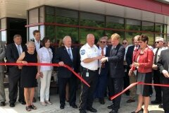 June 28, 2019 - Senator Iovino cuts the ribbon on the Allegheny County Emergency Management Dept's new facility in Moon Township.