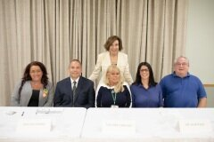 September 29, 2019 - Senator Iovino at the 37th District's Open House on Addiction with the panelists.